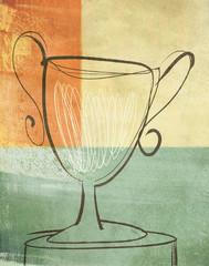 Loving Cup Trophy Prize Illustration