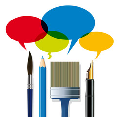 Crayon_Pinceaux_stylo_Bulles