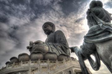 Buddhist Statue and Tian Tan Buddha, Lantau Island, Hong Kong