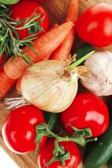 Door stickers Aromatische collection of fresh raw vegetables