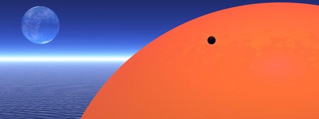 venus and sun