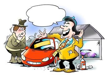 Swank car seller cheating customers