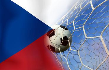 Czech  soccer  ball in european