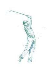 golf player (this is original sketch)