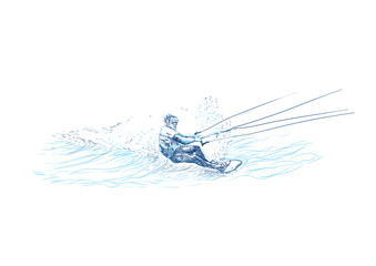 water skiing (this is original sketch)