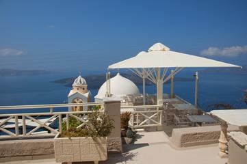 Fira the Capital of the island of Santorini Cyclades Greece