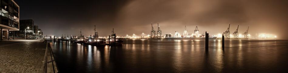 Hafenpanorama Hamburg bei Nacht