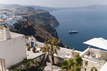 Fira the Capital of Santorini Greece