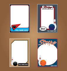 Bowling Trading Card Picture Frames