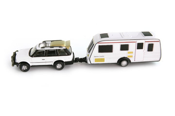 Caravan attached to 4x4