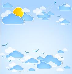Photo sur Aluminium Ciel Good weather. Blue sky with clouds.