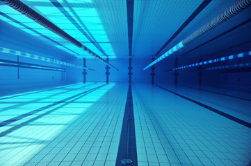 Shots underwater in a swimming pool