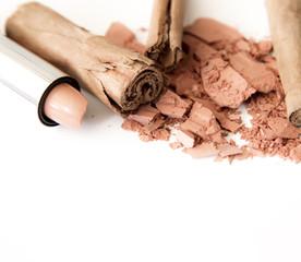 makeup in tones brown natural