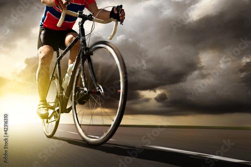 Wall mural Racing Bike