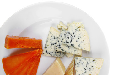 aged french cheese parmesan roquefort and gruyere