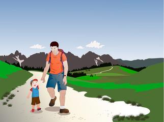 Passeggiata sulle Dolomiti
