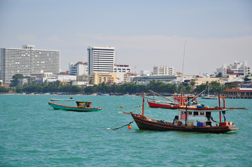boats in Pattaya sea,Thailand