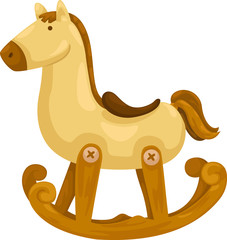rocking horse vector illustration