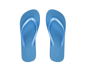 blue beach shoes isolated on white