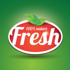 100 percent fresh - nature