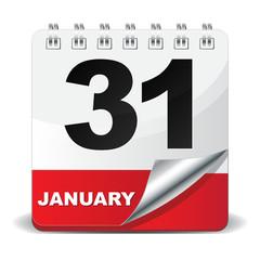 31 JANUARY ICON
