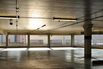 Architecture indoor, urban garage building