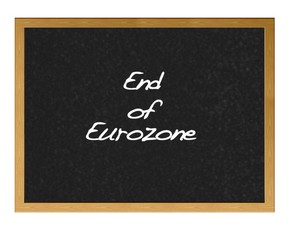 End of eurozone.