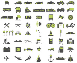 Green Traffic Symbols