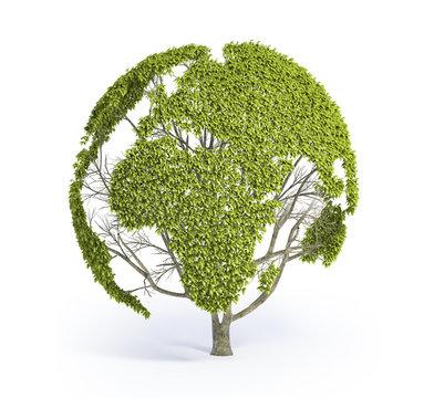 Tree shaped World map