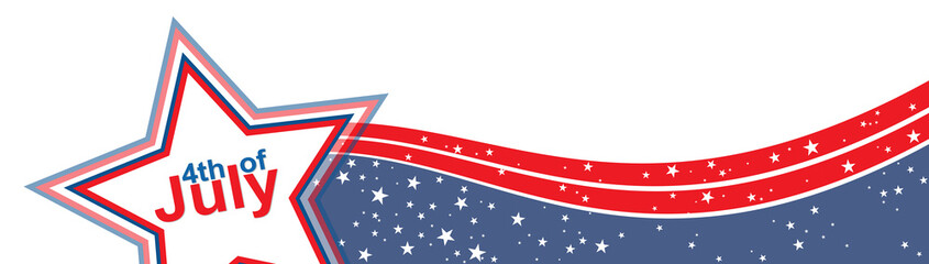4th of july American independence day. Vector illustration.
