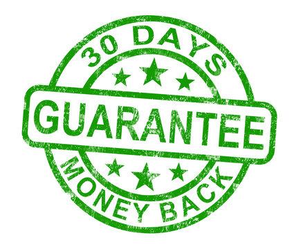 30 Days Money Back Guarantee Stamp