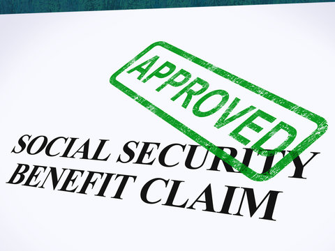 Social Security Claim Approved Stamp Shows Social Unemployment B