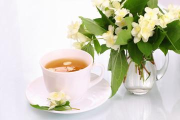 Jasmine tea and flowers