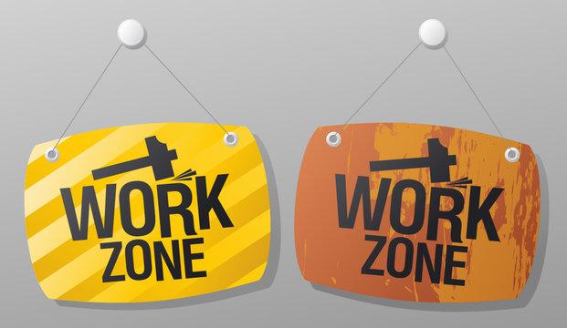 Work zone signs set