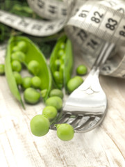 diet concept with peas