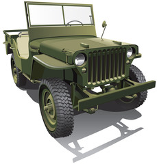Aluminium Prints Military army jeep