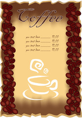 Coffee. menu .