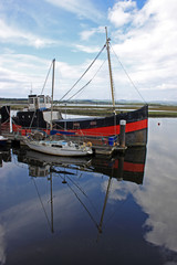 boats moored at Irvine, Scotland