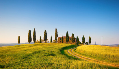 Foto auf Acrylglas Toskana villa in toscana, italia