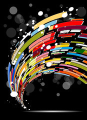 abstract dark colorful technology vector background eps 10