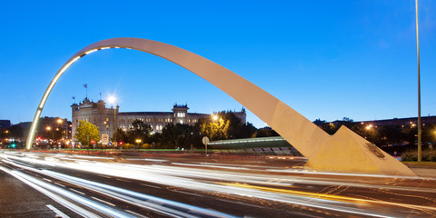 Las Ventas Bridge and Bullring (Madrid) at dusk