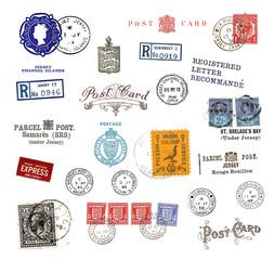 Briefmarken und Poststempel von den Kanalinseln