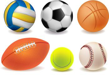 Set of illustrations sport balls
