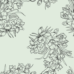Seamless background with flower.