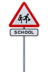 School Sign Isolated