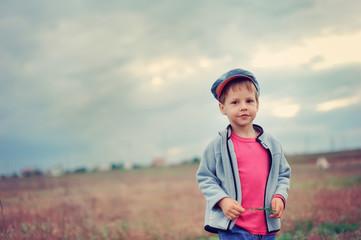 The boy in a cap