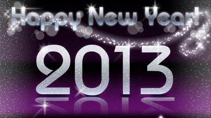 Happy New Year 2013 - Violet