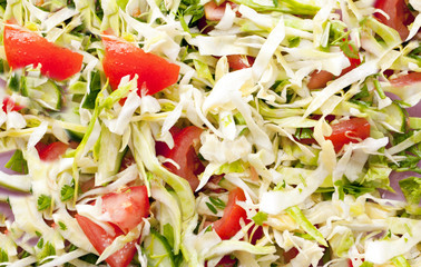 Structure of vegetable salad