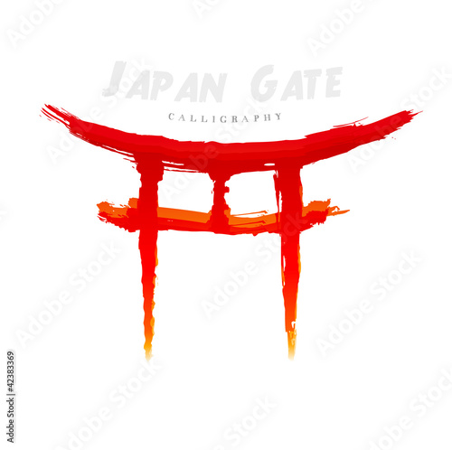 torii gate drawing - 500×498