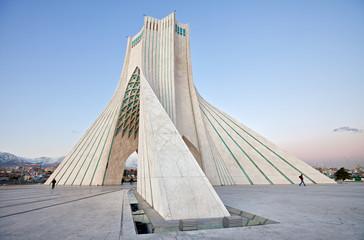 Side view of Azadi square in Tehran